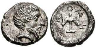 2159 Metocus Rex Thraciae AR