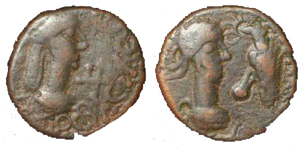 1068 Rhescuporis V Regnum Bosporanum AE